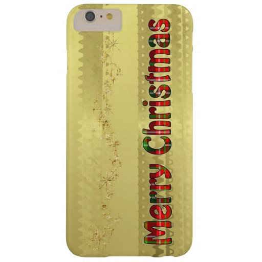 tartan typography merry christmas gold foil barely there iphone 6 plus case zazzle