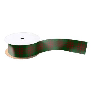 Tartán verde de Menzies del clan escocés y rojo Lazo De Raso