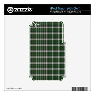 Tartán verde del bretón del cabo calcomanías para iPod touch 4G
