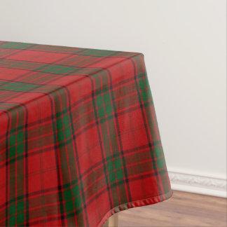Tartán verde rojo del maxwell escocés del clan mantel de tela