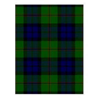 Tartán verde y azul de Dundas del clan Postales