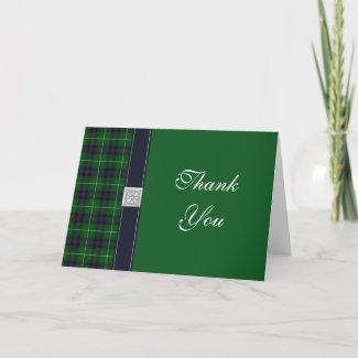 Tartan Wedding Thank You Card card