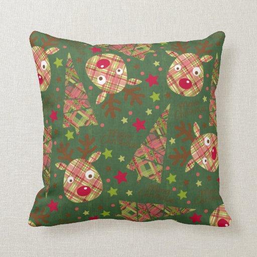 Tartan Xmas Throw Pillows