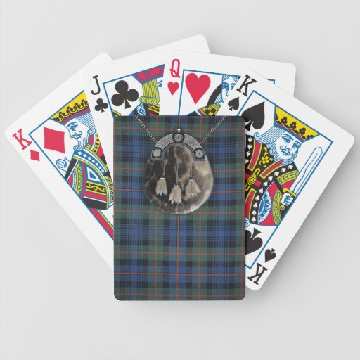 Tartán y escarcela de los montañeses de Escocia Cartas De Juego