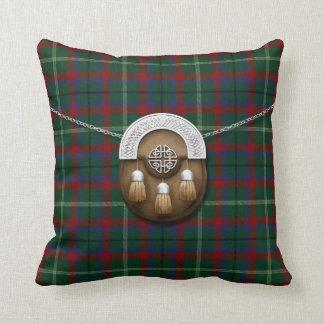 Tartán y escarcela de los montañeses de Escocia Cojín Decorativo