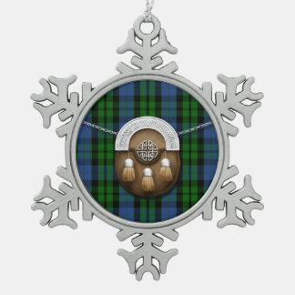 Tartán y escarcela de los montañeses de Escocia de Adorno De Peltre En Forma De Copo De Nieve