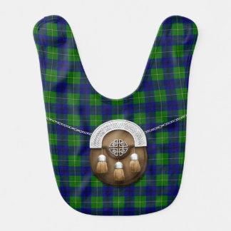 Tartán y escarcela de los montañeses de Escocia de Babero De Bebé