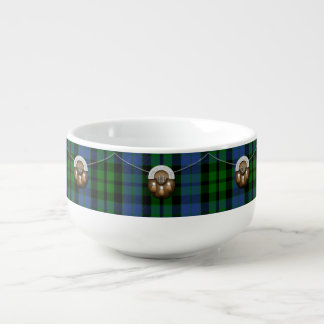 Tartán y escarcela de los montañeses de Escocia de Bol Para Sopa