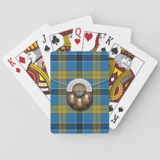 Tartán y escarcela de los montañeses de Escocia de Cartas De Póquer