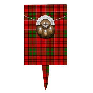 Tartán y escarcela de los montañeses de Escocia de Figura Para Tarta