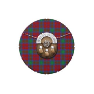 Tartán y escarcela de los montañeses de Escocia de Frascos De Dulces