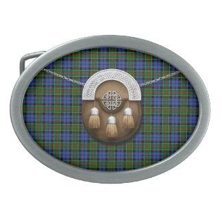 Tartán y escarcela de los montañeses de Escocia de Hebilla Cinturón Oval