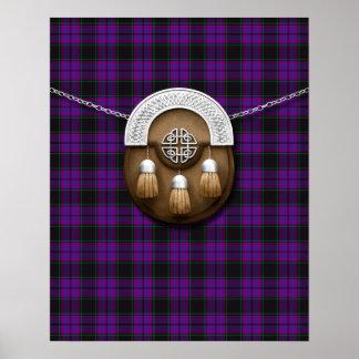 Tartán y escarcela de los montañeses de Escocia de Impresiones