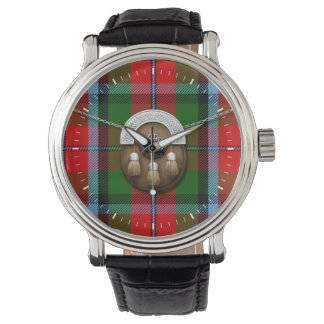 Tartán y escarcela de los montañeses de Escocia de Relojes De Mano