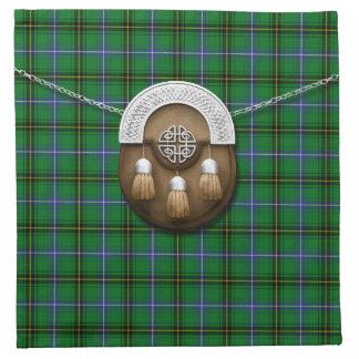 Tartán y escarcela de los montañeses de Escocia de Servilleta Imprimida