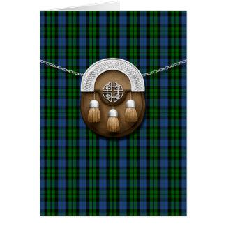Tartán y escarcela de los montañeses de Escocia de Felicitacion