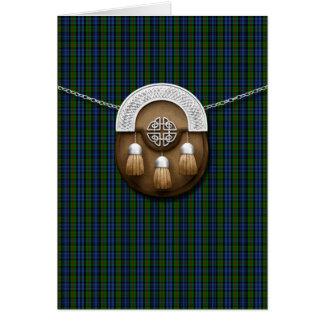 Tartán y escarcela de los montañeses de Escocia de Tarjeta De Felicitación