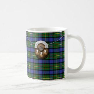 Tartán y escarcela de los montañeses de Escocia de Taza De Café