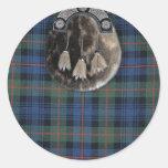 Tartán y escarcela de los montañeses de Escocia Etiqueta Redonda