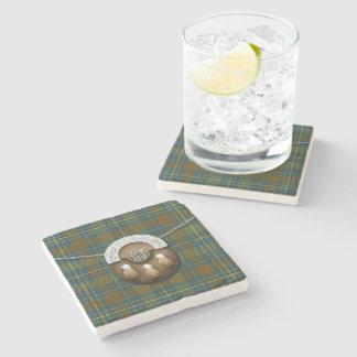 Tartán y escarcela de los montañeses de Escocia Posavasos De Piedra