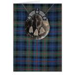 Tartán y escarcela de los montañeses de Escocia Tarjetas
