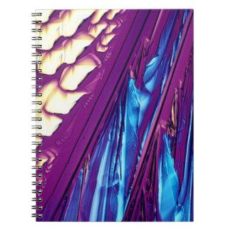 Tartaric Acid Crystals Spiral Notebook