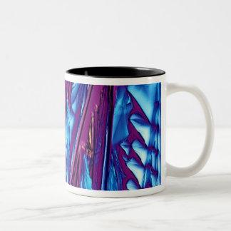 Tartaric Acid Crystals Two-Tone Coffee Mug