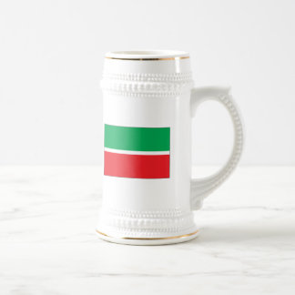 Tartaristán señala la taza por medio de una bander