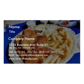 Tártaro de los pescados de las tortas de cangrejo  plantilla de tarjeta de negocio
