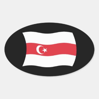 Tártaros del pegatina de la bandera de Bielorrusia