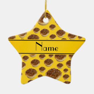 Tartas amarillas conocidas personalizadas de la ma ornamento para reyes magos