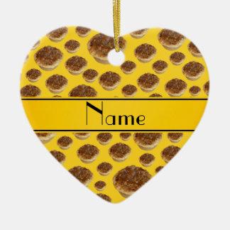 Tartas amarillas conocidas personalizadas de la ma ornamentos de reyes