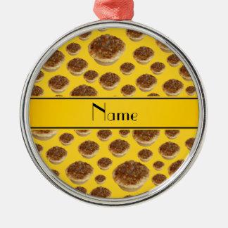 Tartas amarillas conocidas personalizadas de la ma ornaments para arbol de navidad