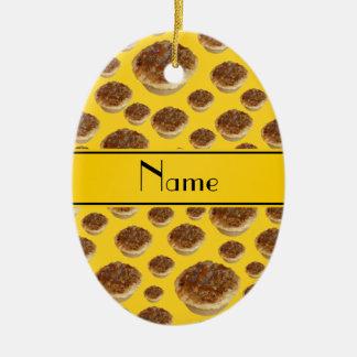 Tartas amarillas conocidas personalizadas de la ma adorno para reyes