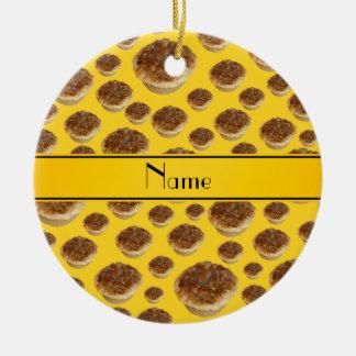 Tartas amarillas conocidas personalizadas de la ma ornato