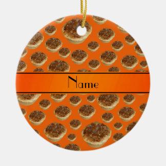 Tartas anaranjadas conocidas personalizadas de la  adorno para reyes