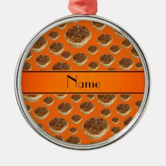 Tartas anaranjadas conocidas personalizadas de la  ornamentos para reyes magos