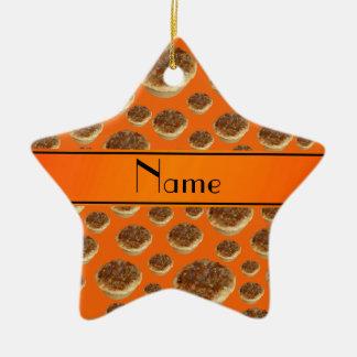 Tartas anaranjadas conocidas personalizadas de la  adorno de reyes