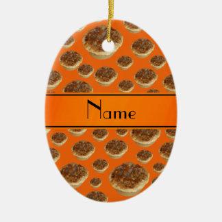 Tartas anaranjadas conocidas personalizadas de la  adornos de navidad