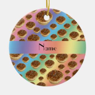 Tartas conocidas personalizadas de la mantequilla  ornamentos de navidad