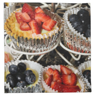 Tartas de la baya de la fruta servilletas