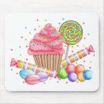 Tartas del dulce del Lollipop del caramelo de la m Tapete De Raton