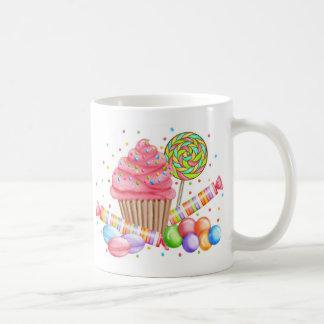 Tartas del dulce del Lollipop del caramelo de la m Tazas De Café