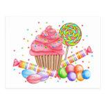 Tartas del dulce del Lollipop del caramelo de la Tarjetas Postales