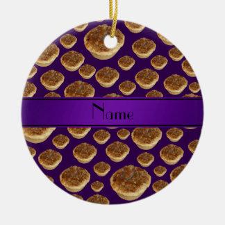 Tartas púrpuras conocidas personalizadas de la man ornamentos de reyes magos