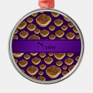 Tartas púrpuras conocidas personalizadas de la man ornamentos para reyes magos