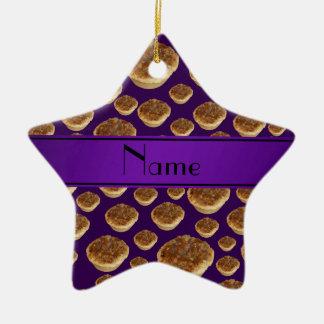 Tartas púrpuras conocidas personalizadas de la man ornamentos de navidad