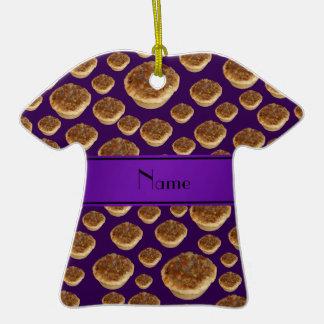 Tartas púrpuras conocidas personalizadas de la man ornamento para reyes magos