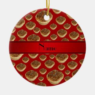 Tartas rojas conocidas personalizadas de la manteq ornamento para reyes magos