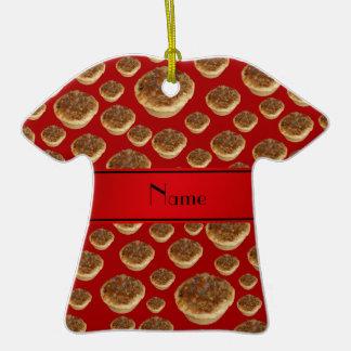 Tartas rojas conocidas personalizadas de la manteq adornos de navidad